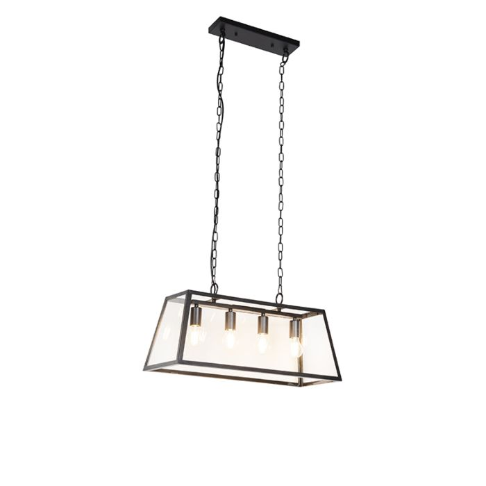 Lámpara-colgante-industrial-negra-4-luces---CAPTIVA