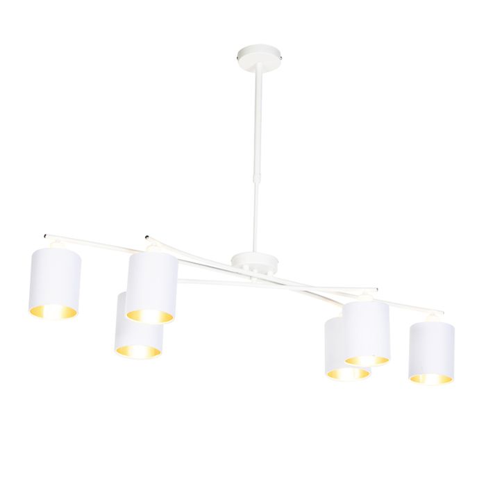 Lámpara-colgante-moderna-blanca-ajustable-6-luces---LOFTY