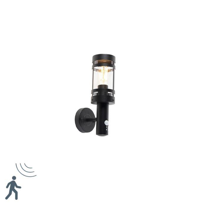 Aplique-exterior-negro-con-sensor-de-movimiento-IP44---Gleam