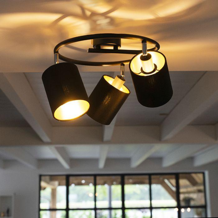 Plafón-moderno-negro-3-luces---LOFTY