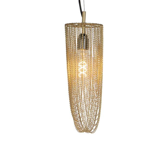 Lámpara-colgante-oriental-dorada---CATENA-CABALTO-