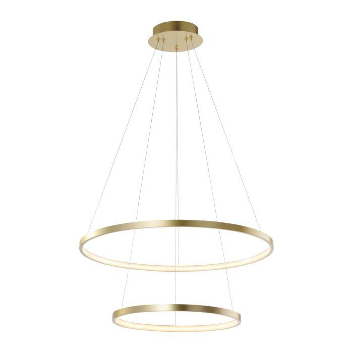 Aro-moderno-colgante-de-aro-dorado-incl.-LED---Anella-Duo