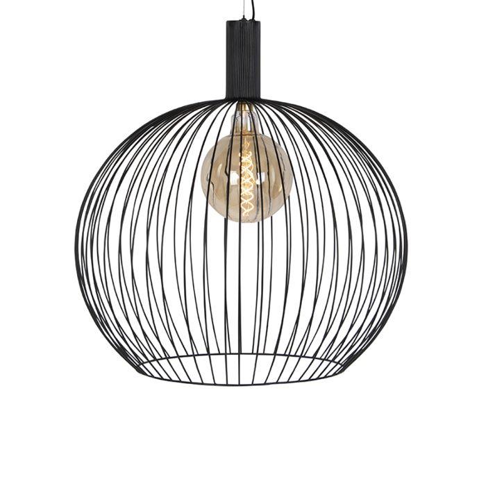 Lámpara-colgante-redonda-moderna-negra-70-cm---Alambre