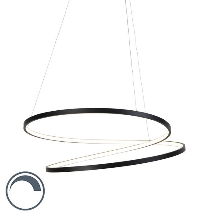 Lámpara-colgante-de-diseño-negra-72cm-con-LED-regulable---Rowan