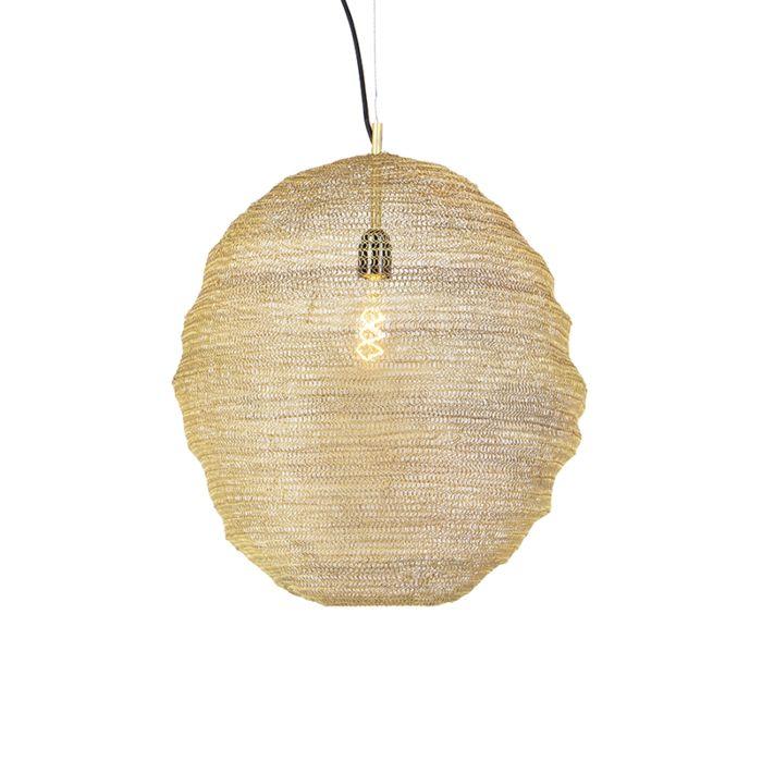 Lámpara-colgante-oriental-dorada---Nidum-Gran