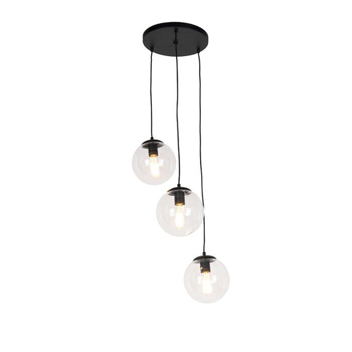 Lámpara-colgante-negra-45cm-3-luces---PALLON