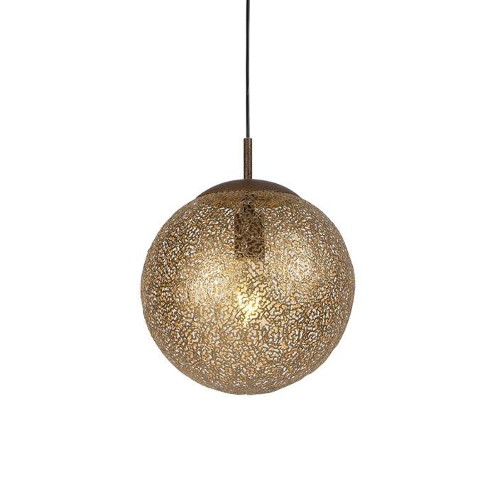 Lámpara-colgante-rústica-30cm-LED-redonda---KRETA