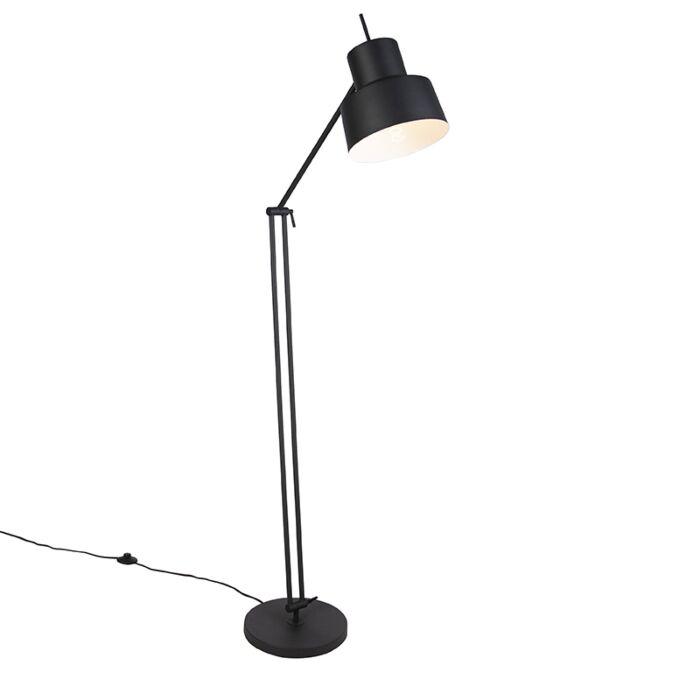 Lámpara-de-pie-retro-negra---CHAPPIE