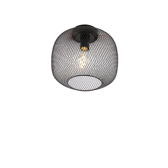 Lámpara-de-techo-negra-moderna---Bliss-Mesh