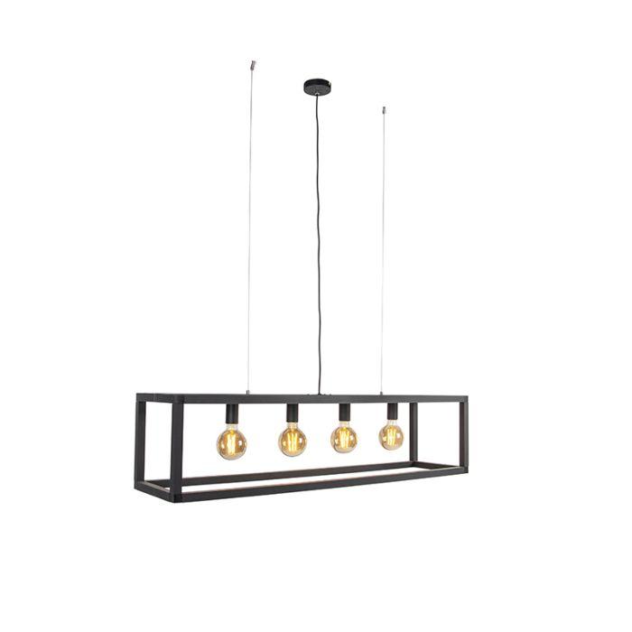 Lámpara-colgante-moderna-negra-4-luces---Big-Cage-2