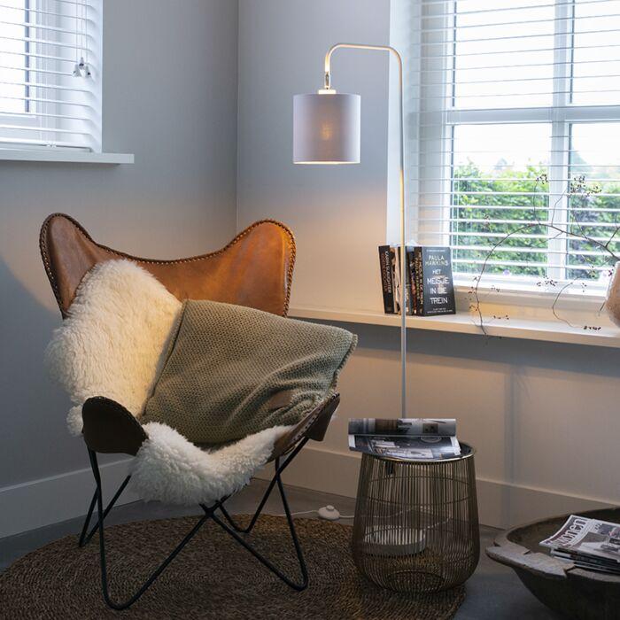 Lámpara-de-pie-moderna-blanco---LOFTY
