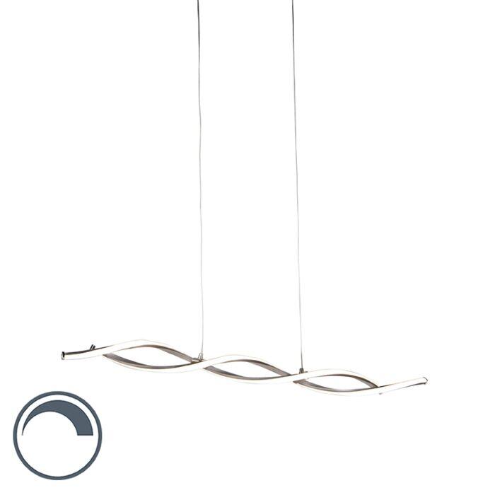 Lámpara-colgante-moderna-acero-regulador-LED---PAULINA