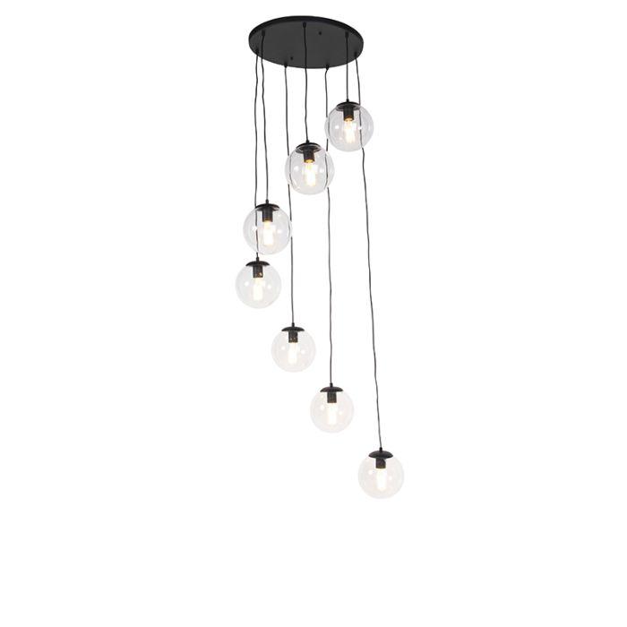 Lámpara-colgante-negro-7-luces---PALLON