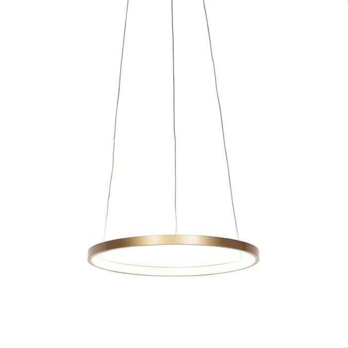 Lámpara-colgante-moderna-anillo-oro-40-cm-con-LED---Anella