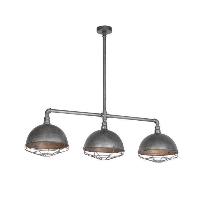 Lámpara-colgante-industrial-plata-envejecida-3-luces---COURSE-