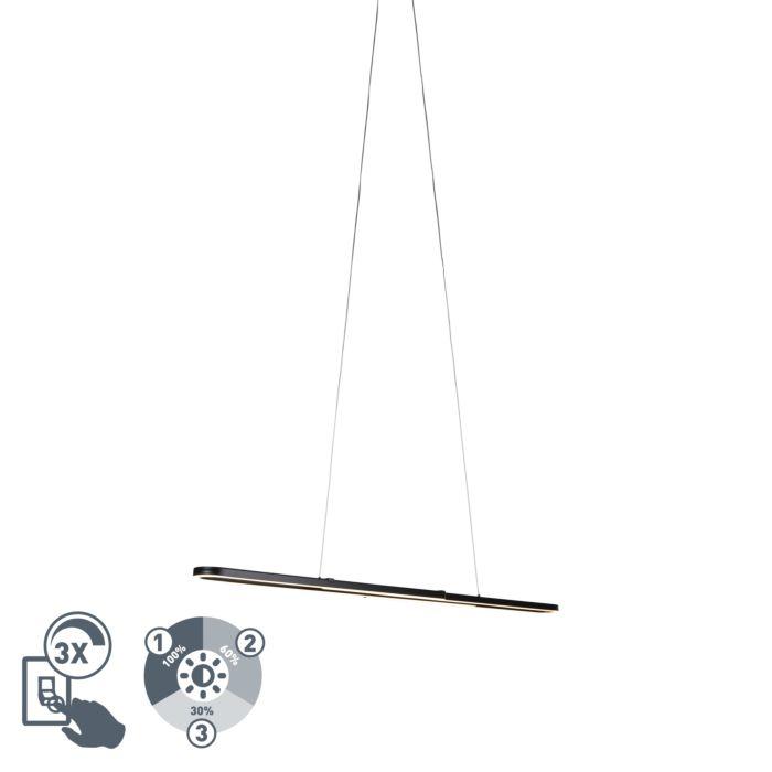 Lámpara-colgante-diseño-negro-ajustable-LED---ROMEO