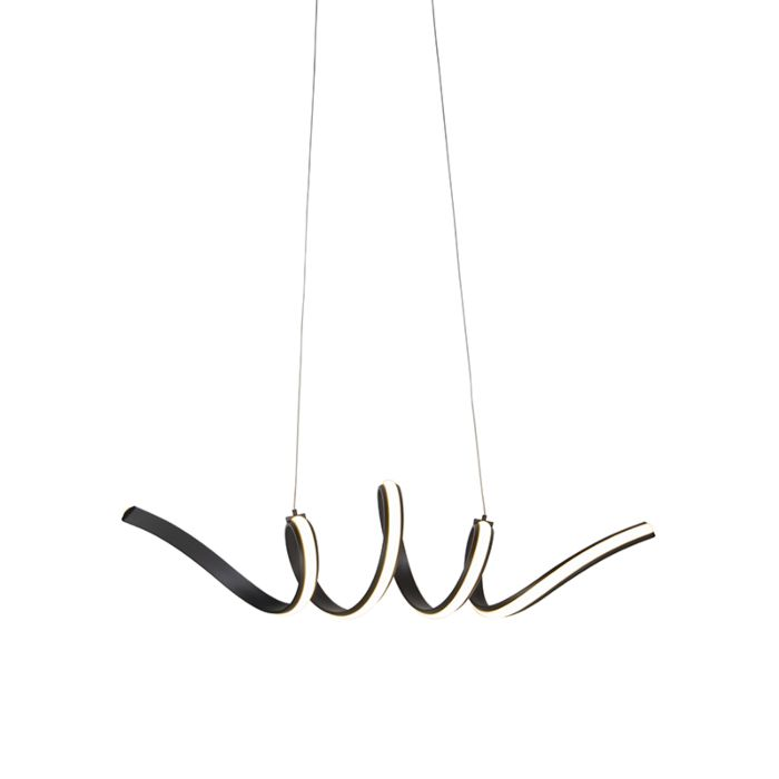 Lámpara-colgante-diseño-negra-regulable-LED-pequeño---TWISTED