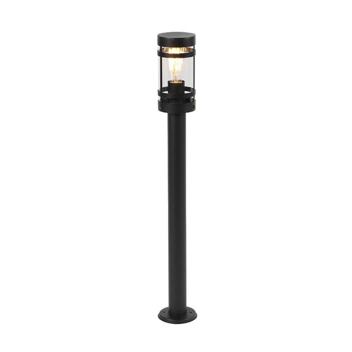Lámpara-de-exterior-moderna-negra-80-cm-IP44---Gleam