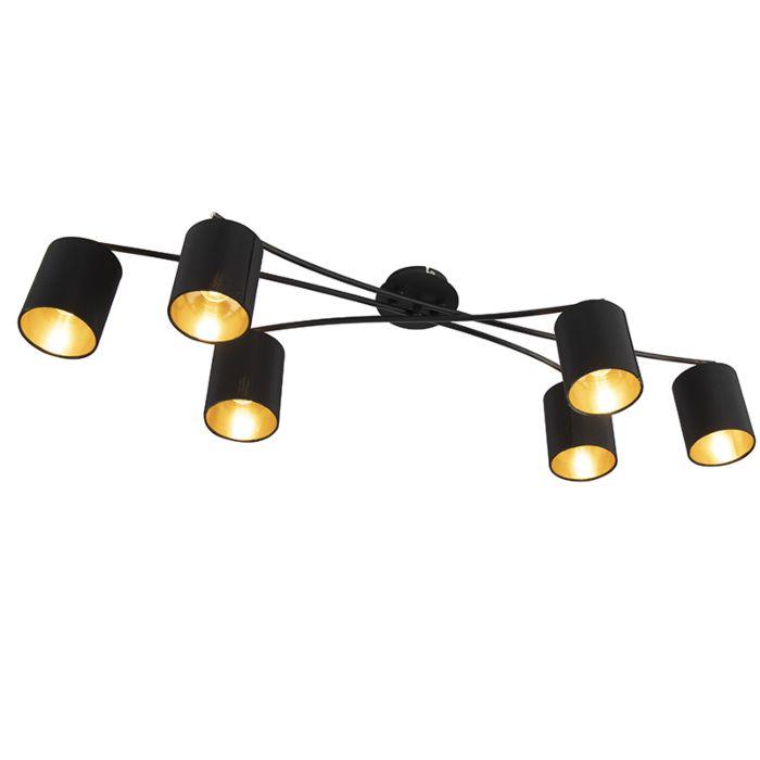 Plafón-moderno-negro-6-luces---LOFTY-