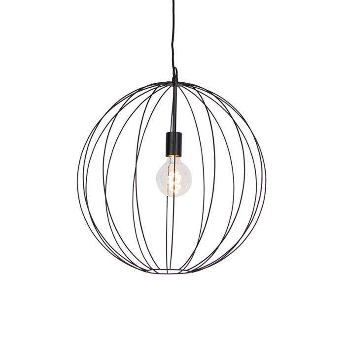 Lámpara-colgante-redonda-de-diseño-negro-50-cm---Pelotas