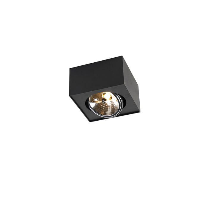 Foco-diseño-negro-cuadrado-1-luz-G9-incl---KAYA