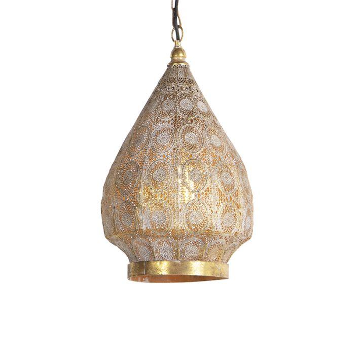 Lámpara-colgante-oriental-dorada-28-cm---MOWGLI