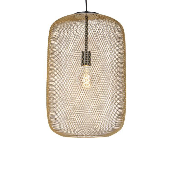Lámpara-colgante-moderna-de-color-negro-con-dorado---Bliss-Mesh