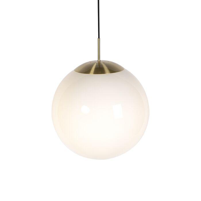Lámpara-colgante-moderna-oro-cristal-opalino---BALL-40