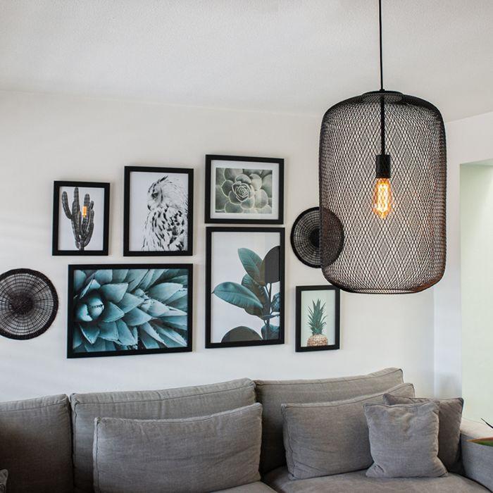 Lámpara-colgante-negra-moderna---BLISS-Mesh