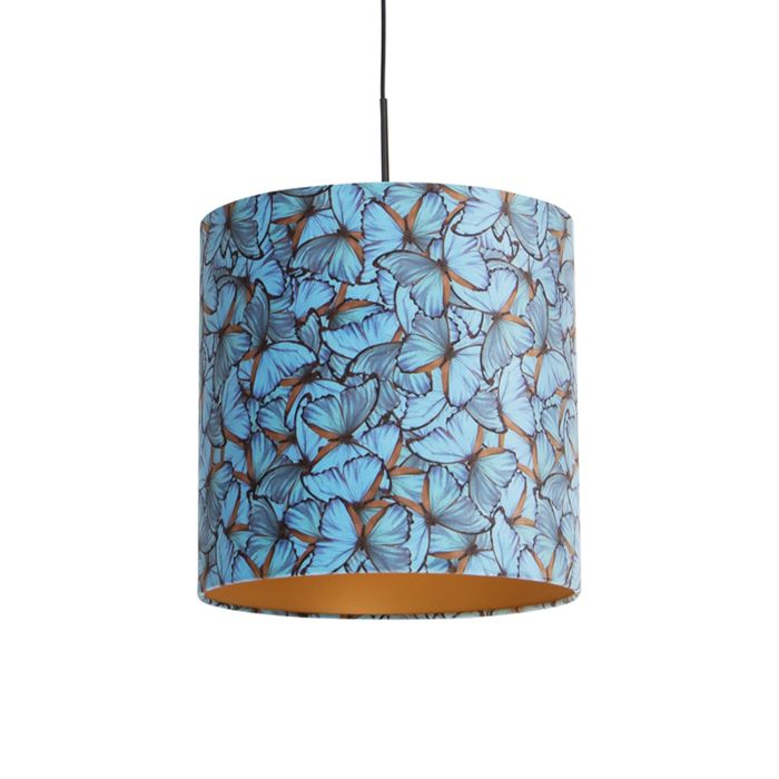 Lámpara-colgante-terciopelo-mariposas-oro-40cm---COMBI