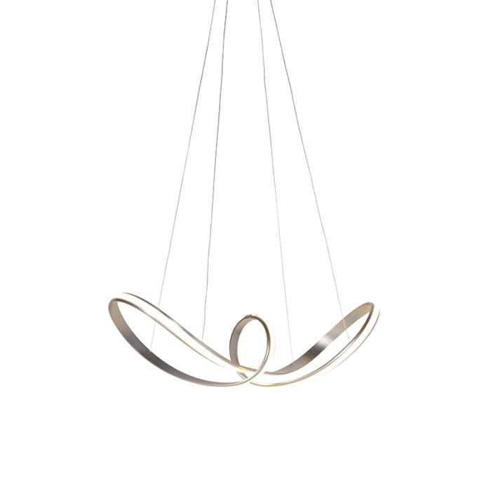 Lámpara-colgante-diseño-acero-regulable-LED---VIOLA-DUE