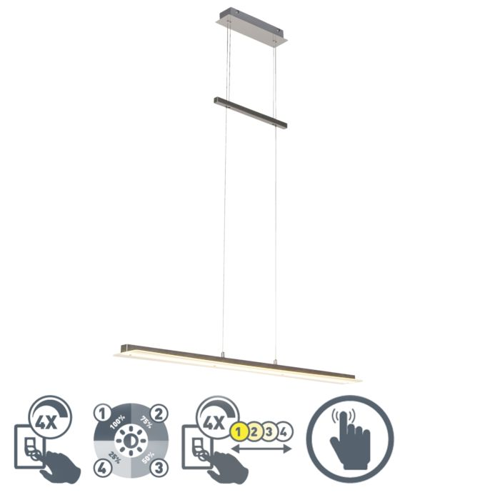 Lámpara-colgante-acero-LED---MASHA