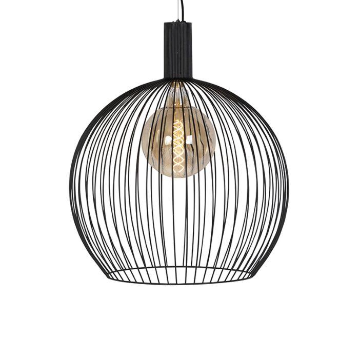 Lámpara-colgante-redonda-moderna-negra-60-cm---Alambre