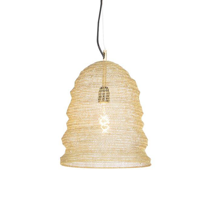 Lámpara-colgante-oriental-dorada---NIDUM-Garza