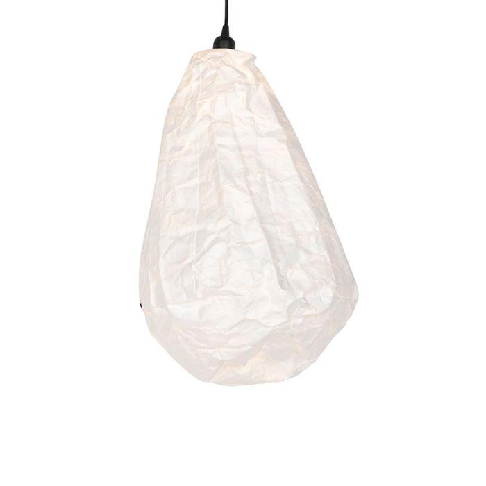 Lámpara-colgante-escandinava-de-papel-blanco---Pepa-Cono
