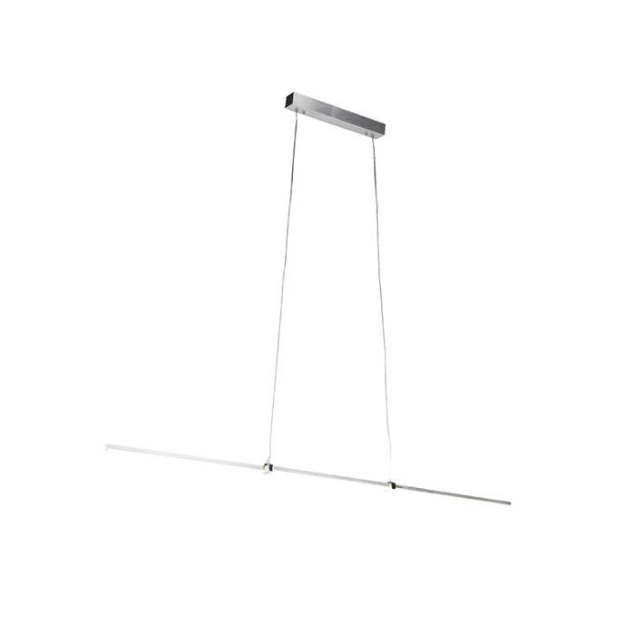 Lámpara-colgante-moderna-aluminio-LED-regulador---PLAZAS