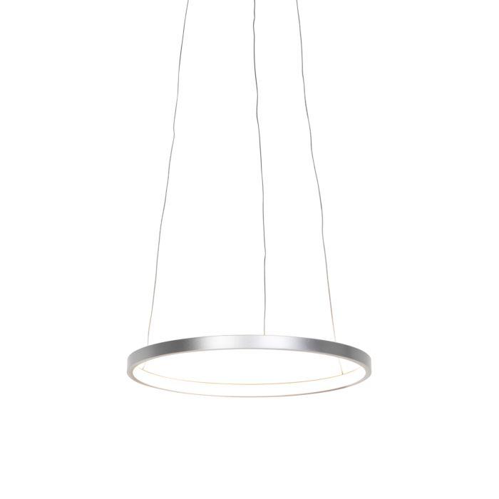 Lámpara-colgante-moderna-plateada-40cm-LED---ANELLA