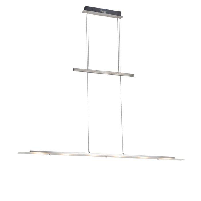 Lámpara-colgante-de-diseño-en-acero-con-LED---Platino