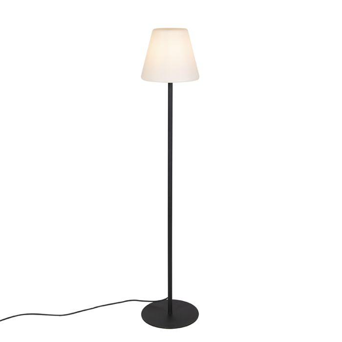 Lámpara-de-pie-de-exterior-moderna-negra-IP44---VIRGINIA