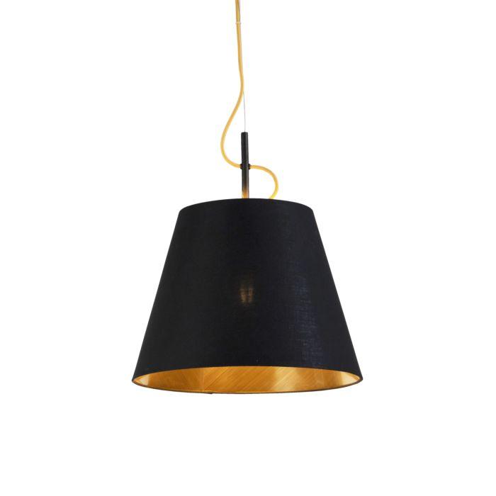Lámpara-colgante-moderna-negra-con-oro---Andrie