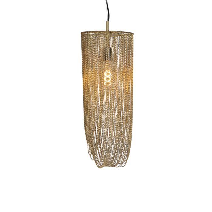 Lámpara-colgante-oriental-dorada---Catena-Ferro
