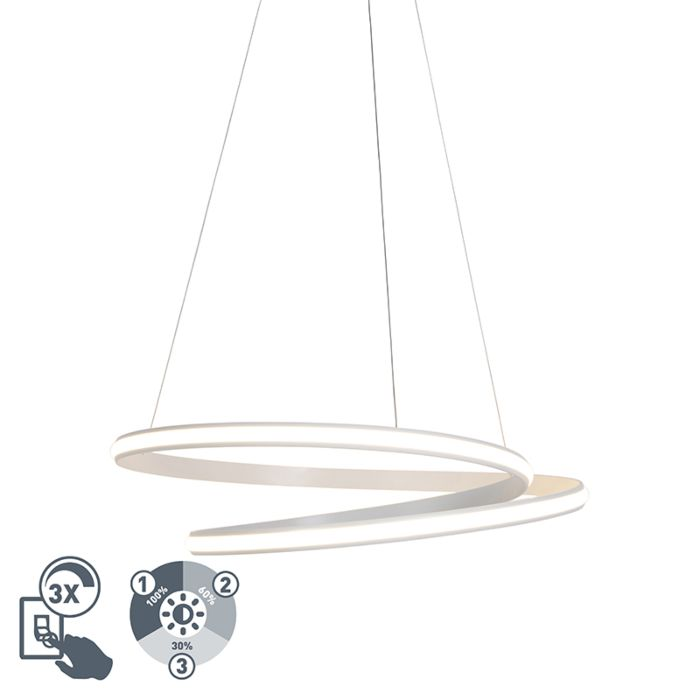 Lámpara-colgante-moderna-blanca-74cm-con-LED-regulable-en-3-pasos---Rowan