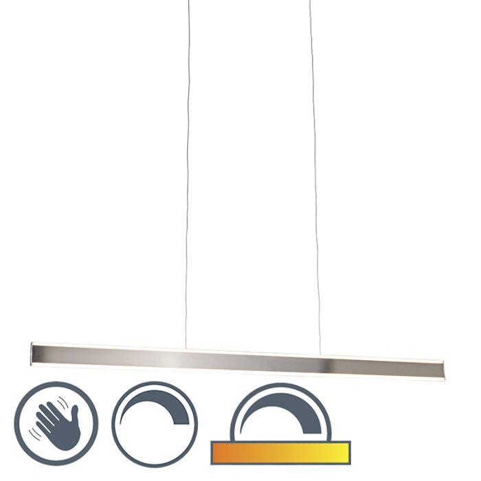 Lámpara-colgante-moderna-de-acero-con-LED-de-140-cm-de-tenue-a-cálida---Ollie