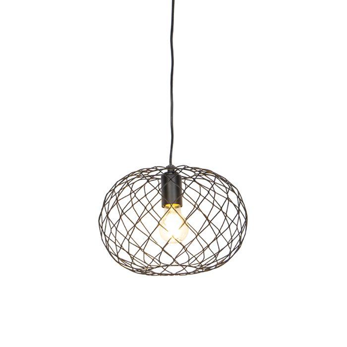 Lámpara-colgante-de-diseño-negra---Helian
