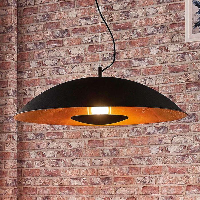 Lámpara-colgante-moderna-negra-oro---EMILIENNE