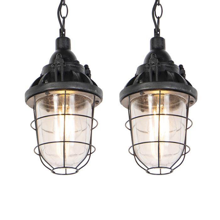 Set-de-2-lámparas-colgantes-negras-CABIN