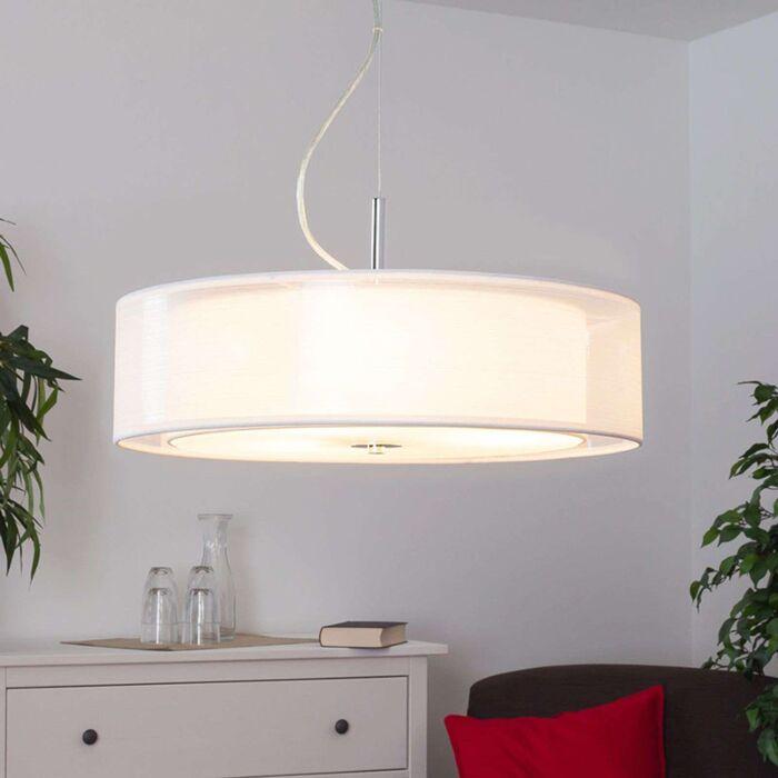Lámpara-colgante-redonda-moderna-blanca-con-3x-E27---Pikka