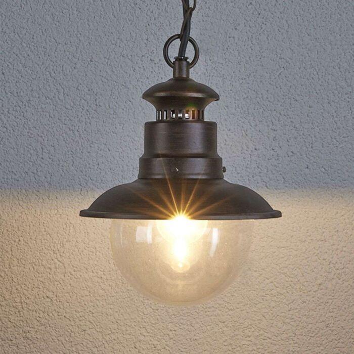Lámpara-colgante-industrial-marrón-óxido---Eddie