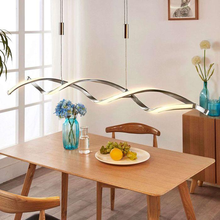 Lámpara-colgante-moderna-de-aluminio-con-LED-y-dimmer---Auron