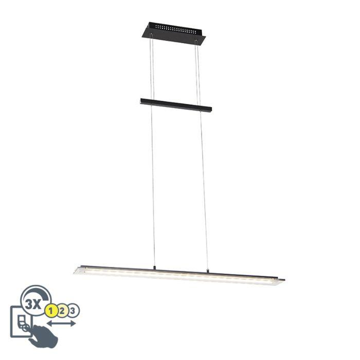 Lámpara-colgante-de-diseño-negro-88-cm-con-LED-regulable-en-3-pasos---Cavolo